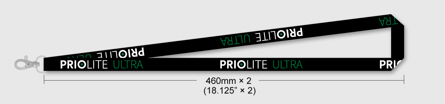 PRIOLITE ULTRA limited edition lanyard